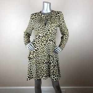Catherine Malandrino Leopard Print Dress Peplum